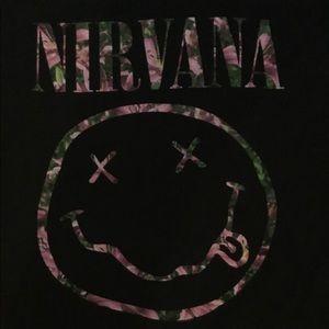 Nirvana T-shirt. Size Large
